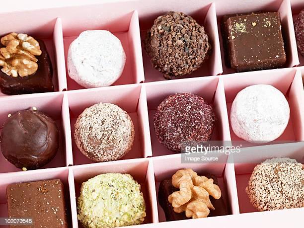 Chocolates in box