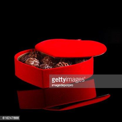 chocolates in box : Stock Photo