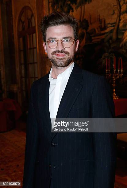 'Chocolatier' Bob Oberweis attend Stephane Bern signs his Book 'Mon Luxembourg' at Residence of the Ambassador of Luxembourg on November 9 2016 in...