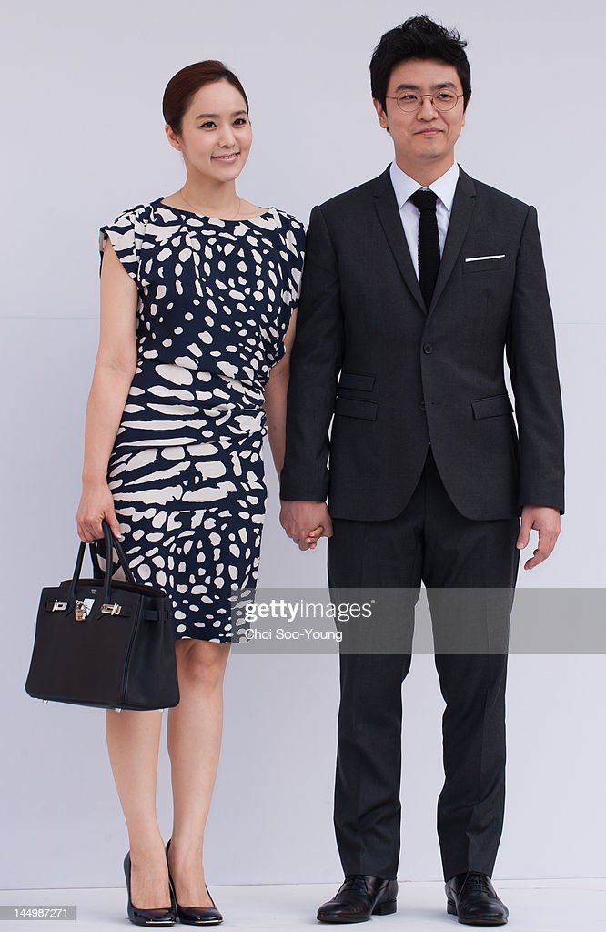 Choi Dong-Seok and his wife Park Ji-Yoon attend the Jung Jun-Ha Wedding at Shilla hotel on May 20, 2012 in Seoul, South Korea.