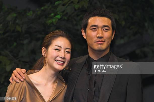 Choi JiWoo and Jo HanSeon during 'Yeonriji' Tokyo Premiere at Tokyo International Forum in Tokyo Japan