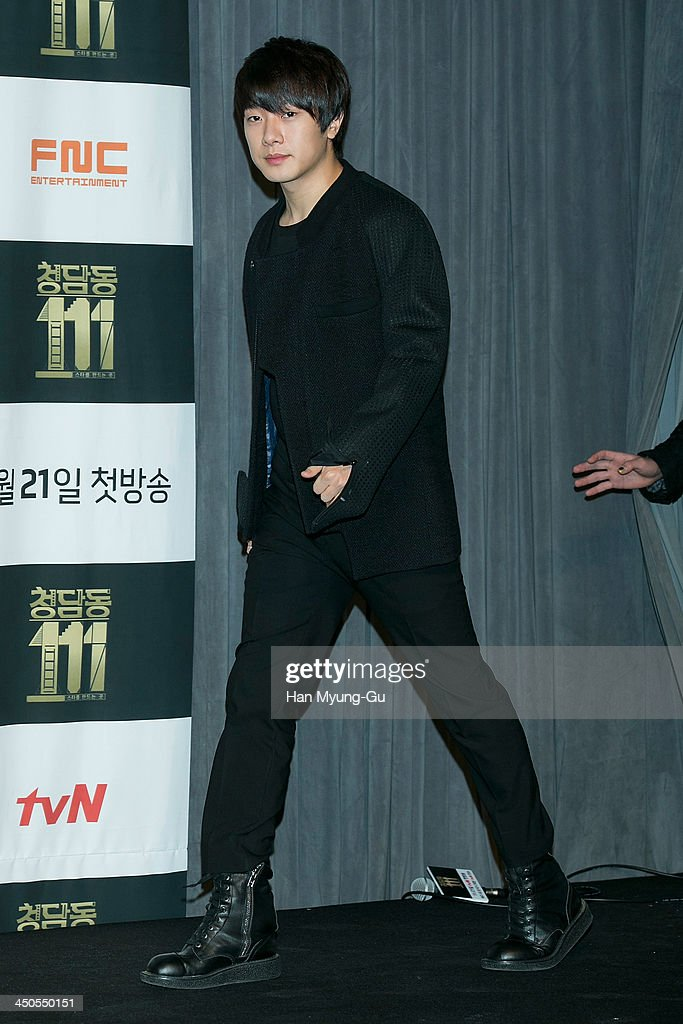 Choi Min-Hwan of South Korean boy band FTisland attends tvN Drama 'Cheongdamdong 111' press conference at CGV on November 18, 2013 in Seoul, South Korea. The drama will open on November 21, in South Korea.