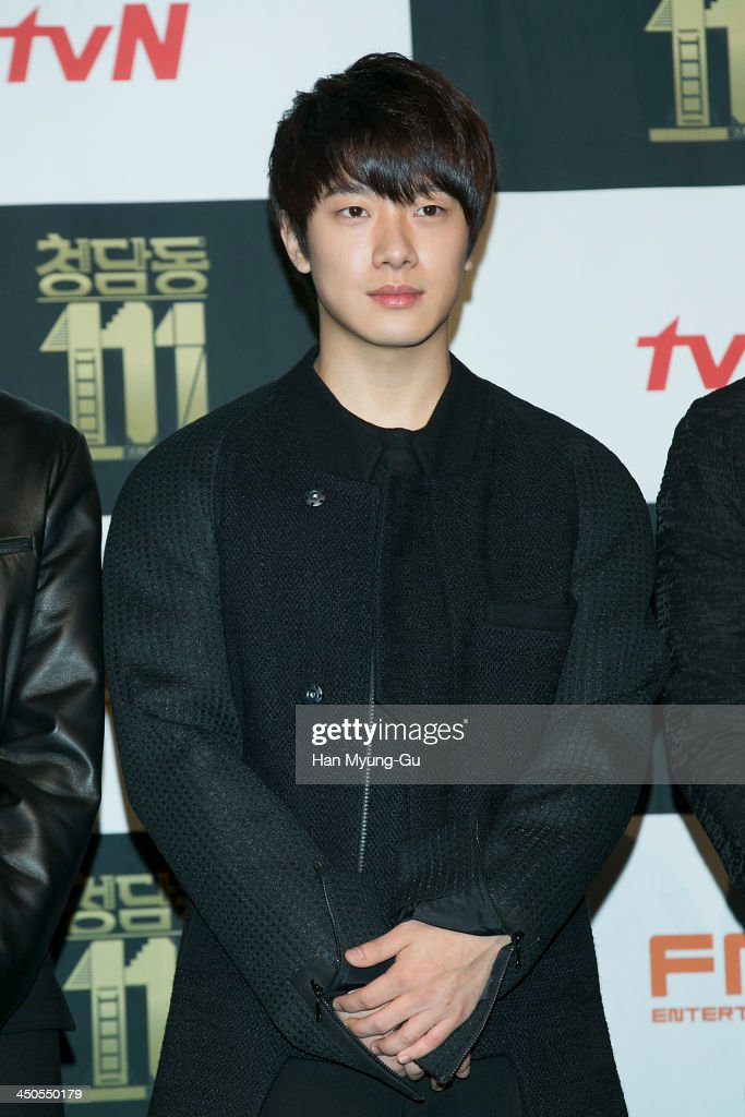 Choi Min-Hwan of South Korean boy band FTisland attends tvN Drama 'Cheongdamdong 111' press conference at CGV on November 18, 2013 in Seoul, South Korea. The drama will open on November 21, in South Korea.