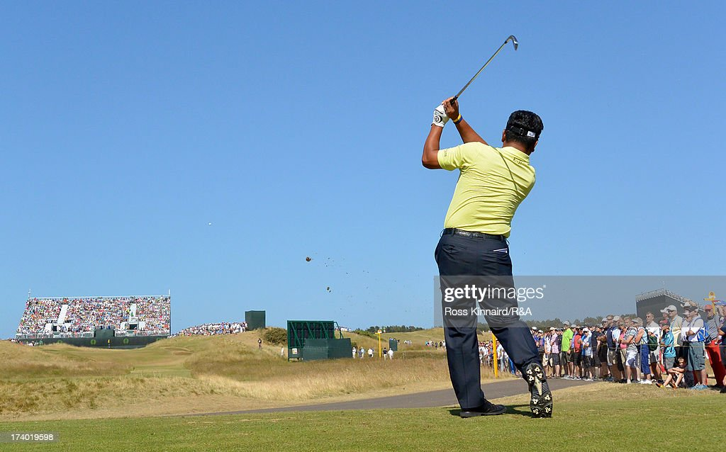 KJ Choi of Korea tees off on the 13th hole during the second round of the 142nd Open Championship at Muirfield on July 19, 2013 in Gullane, Scotland.