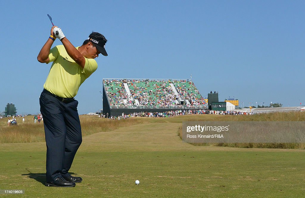KJ Choi of Korea tees off on the 16th hole during the second round of the 142nd Open Championship at Muirfield on July 19, 2013 in Gullane, Scotland.