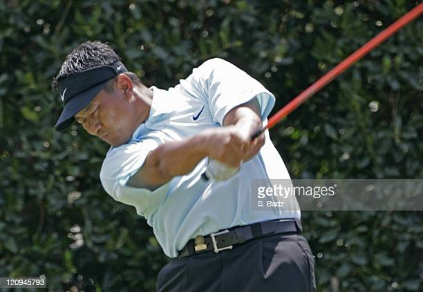 KJ Choi on the first tee during the third round of the 2005 US Open Golf Championship at Pinehurst Resort course 2 in Pinehurst North Carolina on...