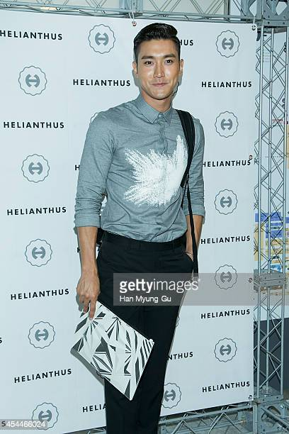 Choi SiWon of South Korean boy band Super Junior attends promotional event for the 'Helianthus' X Siwon of Super Junior at Lotte Duty Free on...