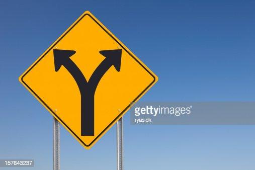 Choice Ahead Traffic Sign