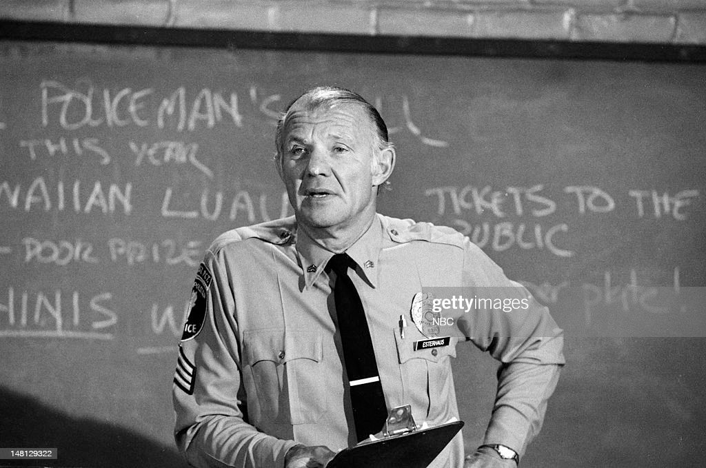 BLUES -- 'Choice Cut' Episode 107 -- Pictured: Michael Conrad as Sgt. Phil Esterhaus --