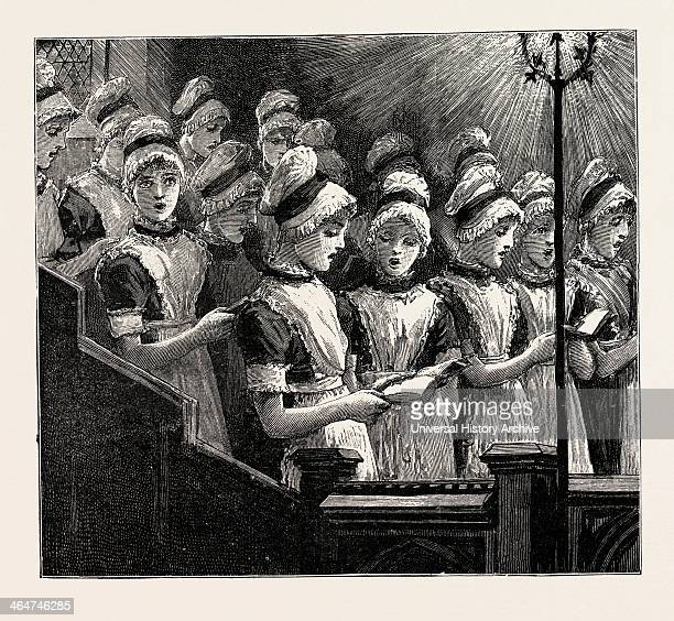 Choir Of The French Church Of The Savoy Bloomsbury Consisting Of Girls Of Huguenot Descent From The Westminster School UK