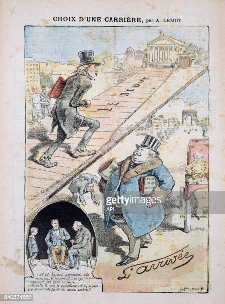 'Choix d'une carrière' carricature du socialisme au XIXè siècle