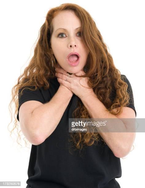 Atragantarse mujer