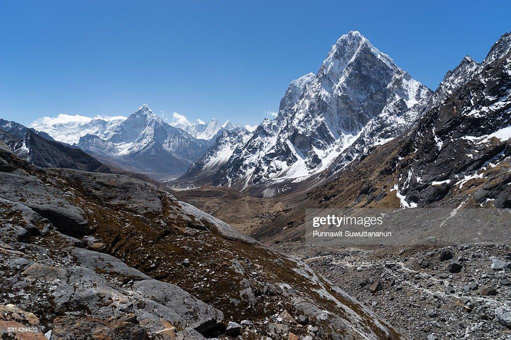 Cholatse mountain from Chola pass,Everest region