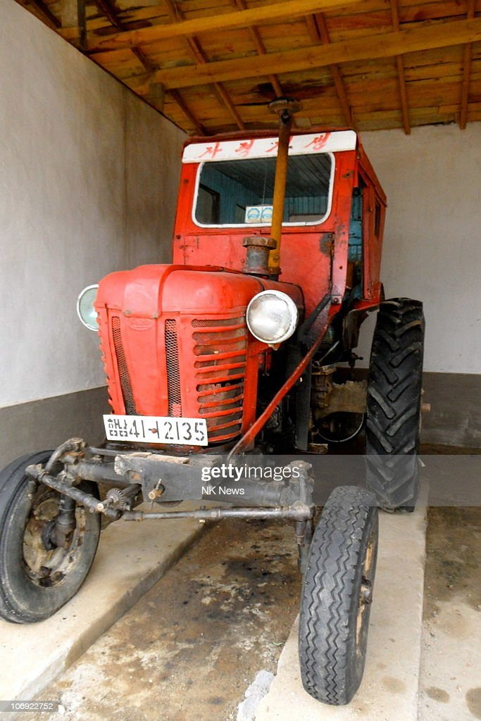 A Chollima tractor is seen at the Hamhung Cooperative Farm on September 18, 2010 in Hamhung, North Korea. This is the biggest fleet in the region and is considered a 'model' farm for emulation across the state.