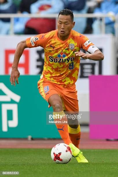 Chong Tese of Shimizu SPulse in action during the JLeague J1 match between Jubilo Iwata and Shimizu SPulse at Shizuoka Stadium Ecopa on April 1 2017...