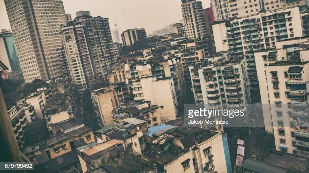 Chongqing, China, rural apartments