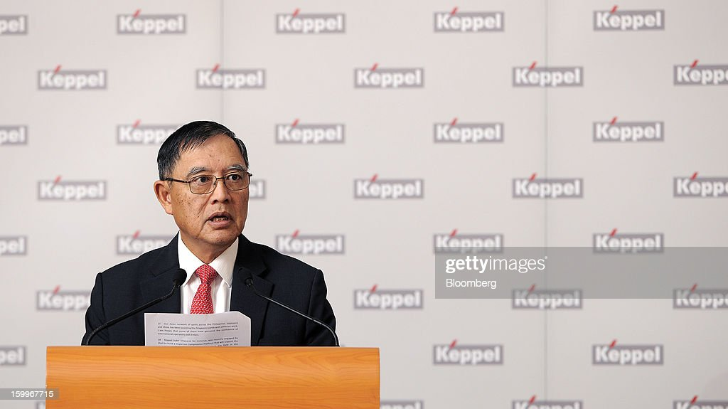 Choo Chiau Beng, chief executive officer of Keppel Corp., speaks during a news conference in Singapore, on Thursday, Jan. 24, 2013. Keppel Corp., the world's largest oil-rig maker, posted a 22 percent decline in fourth-quarter profit after contribution from the marine unit fell and higher competition with Chinese shipbuilders depressed margins. Photographer: Munshi Ahmed/Bloomberg via Getty Images