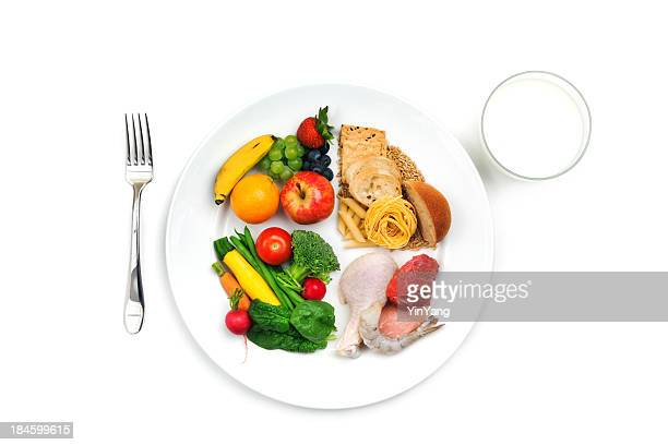 USDA Choose My Plate Basic Food Group Healthy Eating Recommendation