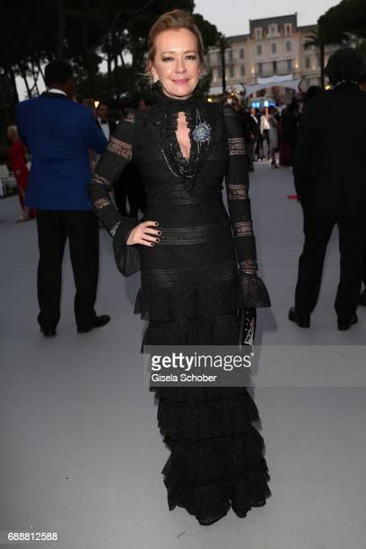 Chopard Artistic Director and CoPresident Caroline Scheufele arrive at the amfAR Gala Cannes 2017 at Hotel du CapEdenRoc on May 25 2017 in Cap...