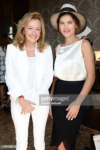 Chopard copresident and artistic director Caroline Scheufele and actress and jury member Virginie Ledoyen attend Chopard during the 70th Venice...