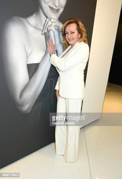 Chopard copresident Caroline Scheufele attends as Vogue Chopard open Glittering Prizes a photo exhibition by Ivan Shaw celebrating 70 years of the...