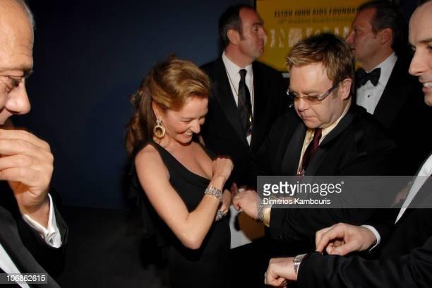 Chopard President Caroline GruosiScheufele and Elton John *EXCLUSIVE*