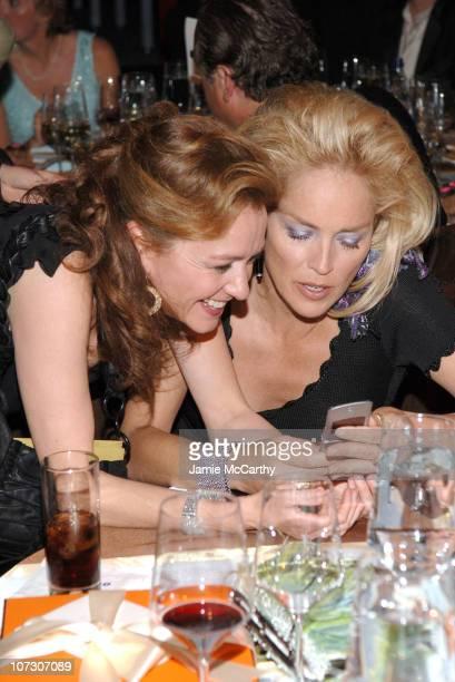 Chopard President Caroline GruosiScheufele and Sharon Stone