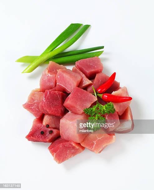 Aliment émincé de viande de bœuf pour Goulache