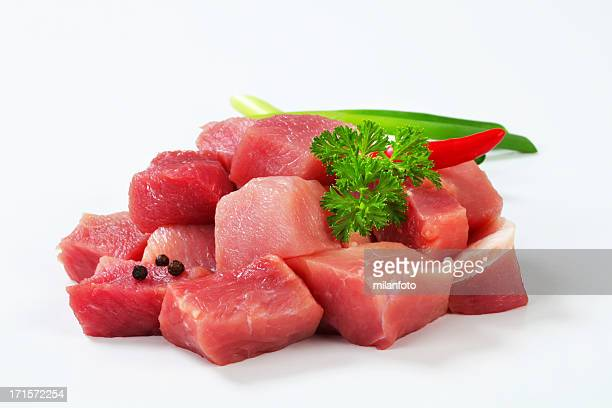 Chopped beef meat for goulash