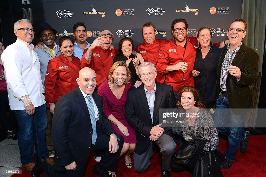 Chopped chefs with Time Warner Executives attend the 'Chopped' Event at Landmarc on October 11, 2012 in New York City.