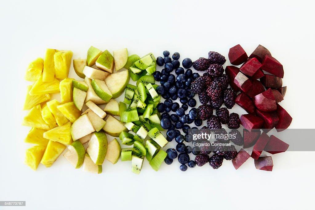 Chopped fruit spectrum.