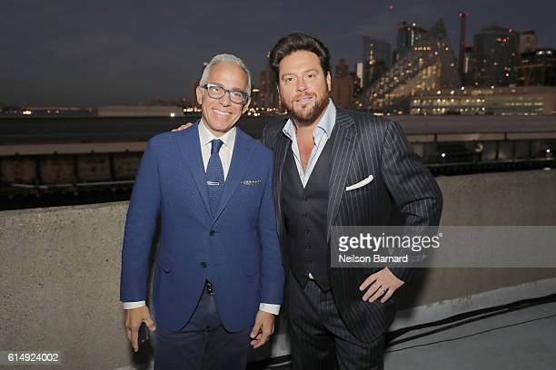 Chopped judges Geoffrey Zakarian and Scott Conant attend Rooftop 'Chopped' during the Food Network Cooking Channel New York City Wine Food Festival...