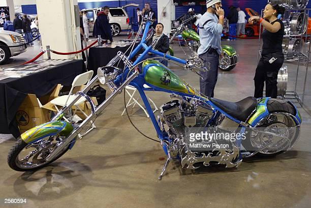 A chopper at the Power 1051 LL Cool J Present Hip Hop Car Show October 4 2003 in Hempstead New York
