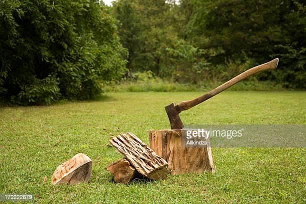 Hacken Brennholz größer