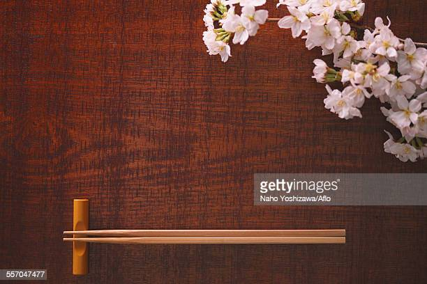 Chopsticks and cherry blossoms