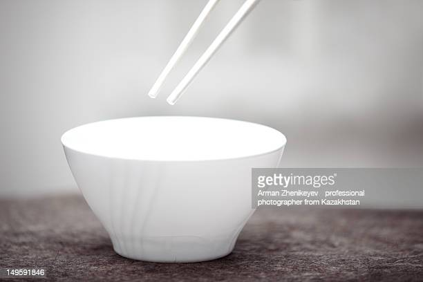 Chopsticks and cup