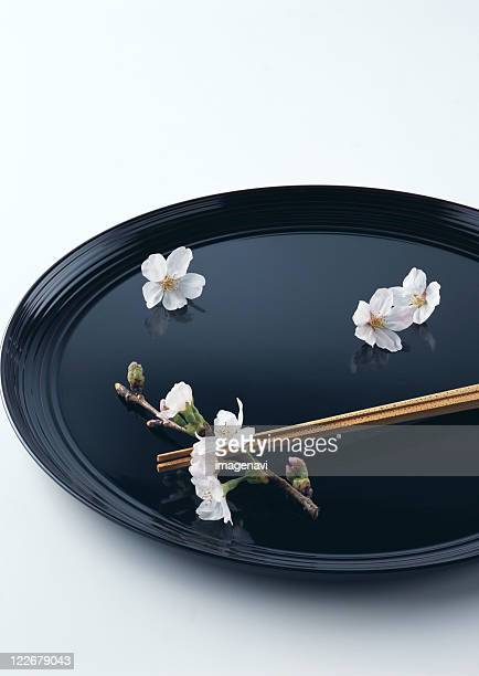 Chopsticks on tray
