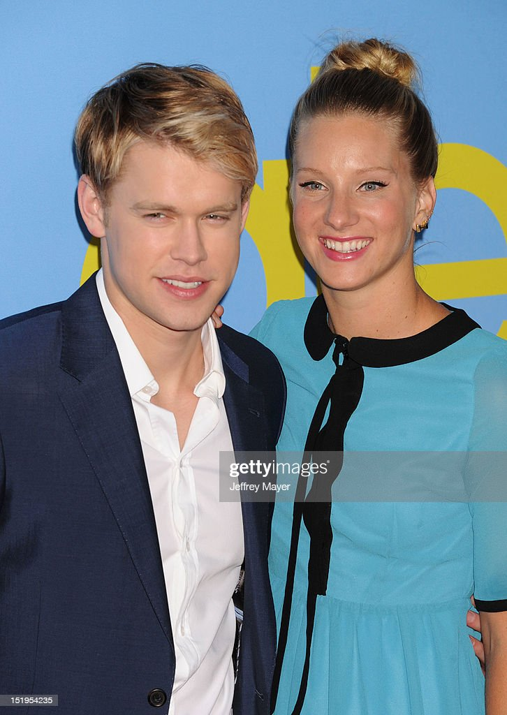 Chord Overstreet and Heather Morris arrive at the 'GLEE' Premiere Screening And Reception at Paramount Studios on September 12, 2012 in Hollywood, California.