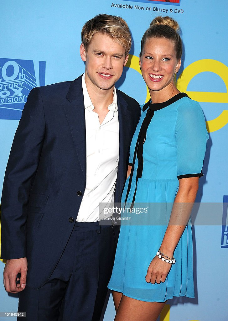 Chord Overstreet and Heather Morris arrives at the 'GLEE' Premiere Screening And Reception at Paramount Studios on September 12, 2012 in Hollywood, California.