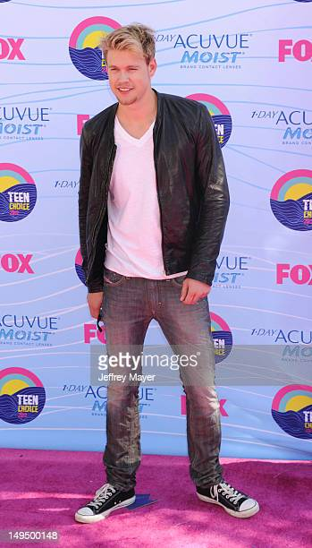 Chord Overstreet arrives at the 2012 Teen Choice Awards at Gibson Amphitheatre on July 22 2012 in Universal City California