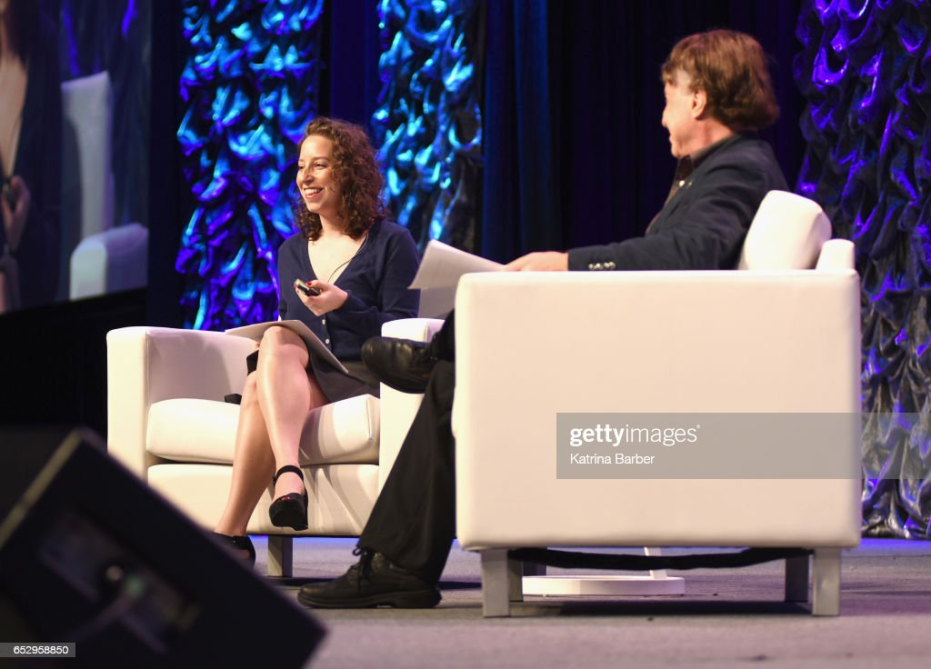 Choreographer Amy Kurzweil and author Ray Kurzweil speak onstage at 'Ray and Amy Kurzweil on Collaboration and the Future ' during 2017 SXSW Conference and Festivals at Austin Convention Center on March 13, 2017 in Austin, Texas.