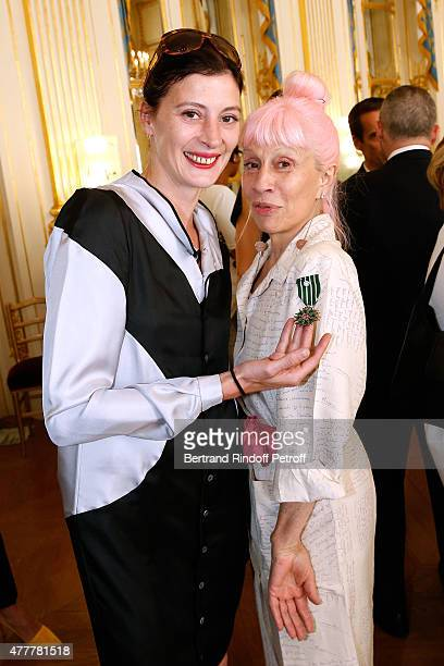 Choreographer and former Star Dancer MarieAgnes Gillot and Marie Beltrami attend French minister of Culture and Communication Fleur Pellerin gives...