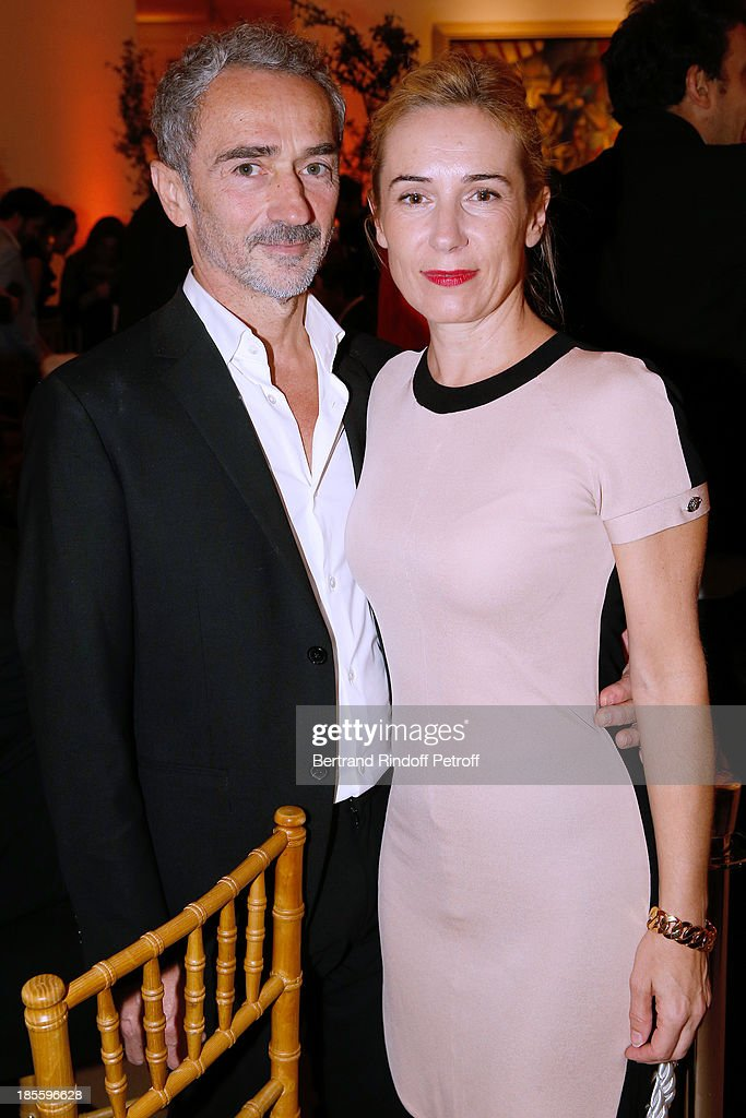 Choreographer Angelin Preljocaj and guest attend the the dinner of the friends of the 'Musee d'Art Moderne de la ville de Paris' on October 22, 2013 in Paris, France.