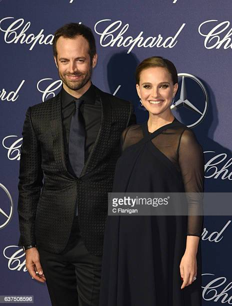 Choreographer Benjamin Millepied and actress Natalie Portman attend the 28th Annual Palm Springs International Film Festival Film Awards Gala at the...