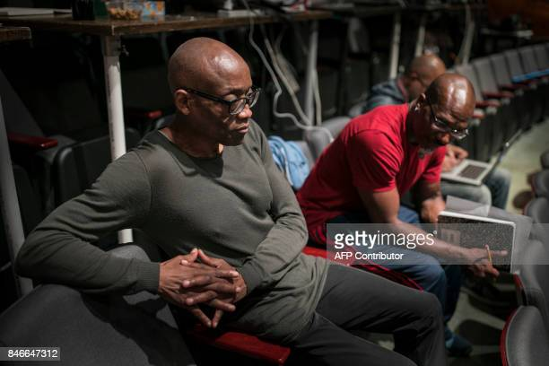 Choreographer Bill T Jones and Assistant Choreographer Raphael Xavier work during a dress rehearsal for the production of 'We Shall Not Be Moved' in...