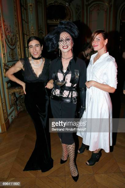Choreographer Blanca Li dancer of the event's show and dancer Fauve Hautot attend the JeanPaul Gaultier 'Scandal' Fragrance Launch at Hotel de...