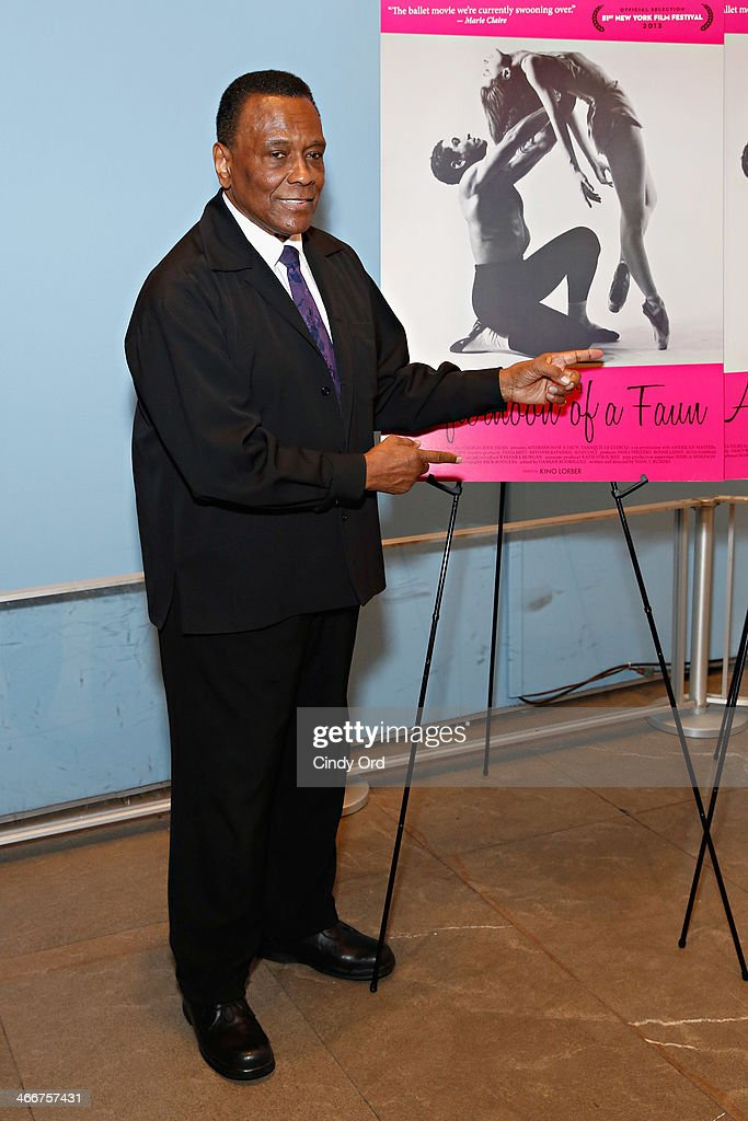 Choreographer/ Dance Theatre of Harlem founder Arthur Mitchell attends 'Afternoon Of A Faun' screening on February 3, 2014 in New York City.