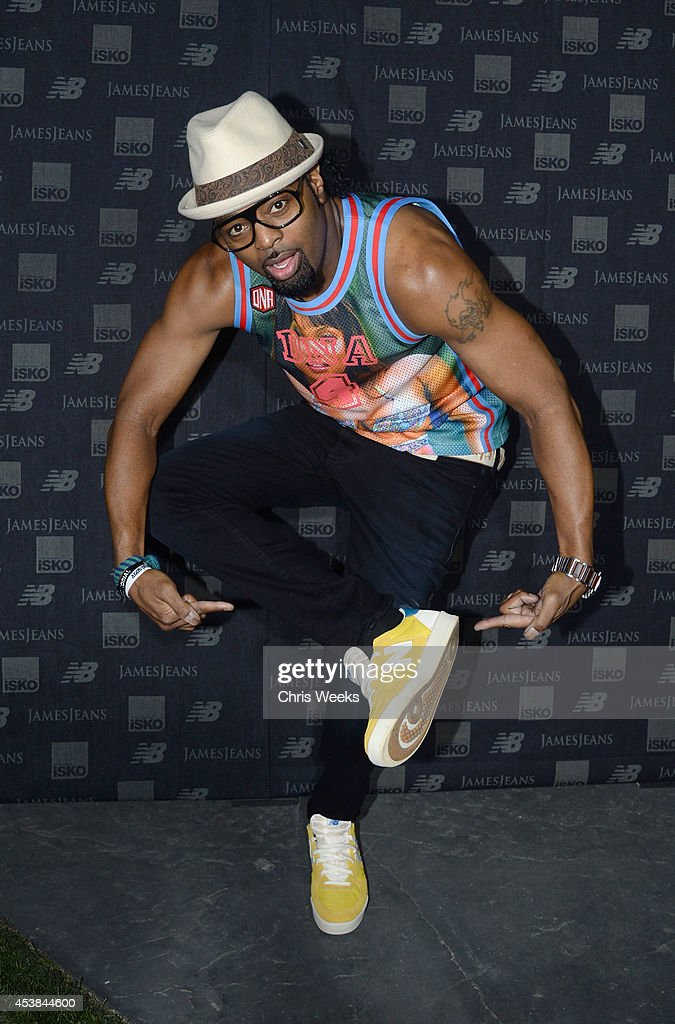 Choreographer Dave Scott attends a dance party with New Balance and James Jeans powered by ISKO at the home of Pascal Mouwad on August 19, 2014 in Bel Air, California.