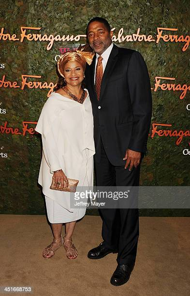 Choreographer Debbie Allen and former NBA player Norm Nixon arrive at the Wallis Annenberg Center For The Performing Arts Inaugural Gala at Wallis...
