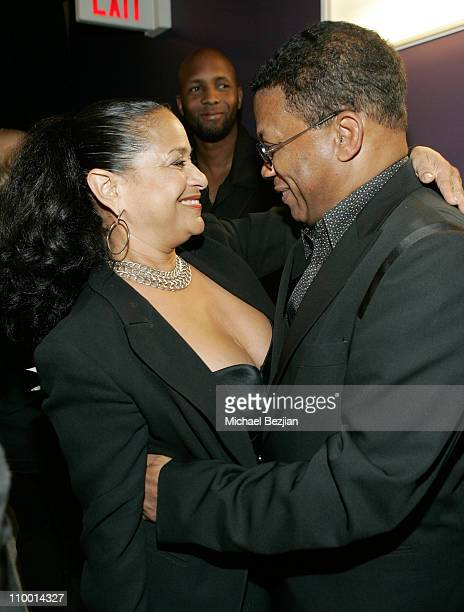 Choreographer Debbie Allen and musician Herbie Hancock backstage at The Thelonious Monk Institute of Jazz and The Recording Academy Los Angeles...